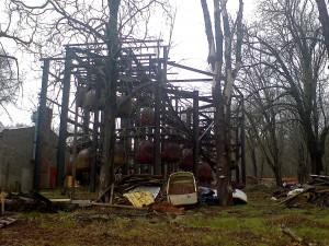 Verlaten attracties in het Treptow Park