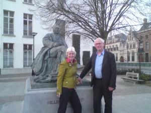 V.l.n.r. Willem Elsschot, Marli Huijer en Reinjan Mulder