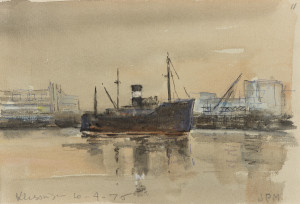 Piet Mulder, Vlissingen 1975, pen en aquarel (privé collectie)