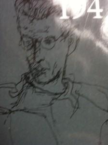 Henri Hayden: Nobelprijswinnaar Samuel Beckett (tekening)