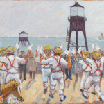 Morris Men in Dovercourt, oil on canvas, 1993