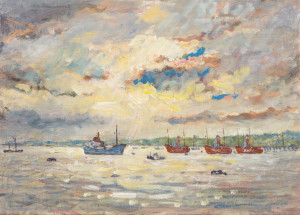 Piet Mulder: Lightships near Shotley