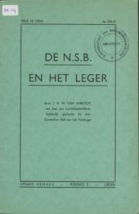 NSB-pamflet van J.A.M. van Anrooy, Uitg. Nenasu, 1940. Collectie NIOD.