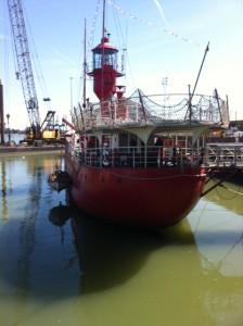 Lichtschip LV 18, aan de Ha'penny Pier in Harwich