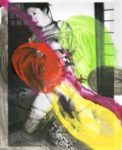 Araki, beschilderde foto.