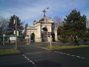 Ingang Westfriedhof Neurenberg