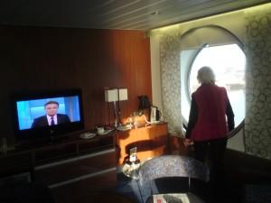 Captain's suite. Aan boord van de Stena Hollandica