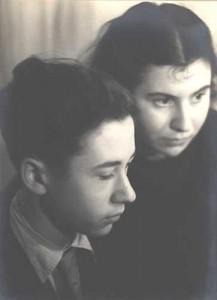 Mischa (l.) en Etty Hillesum