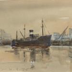 Piet Mulder, Vlissingen 1975, pen en aquarel (privé collectie)