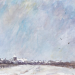 Piet Mulder,Winter in  Tricht, watercolor on paper, 1986.