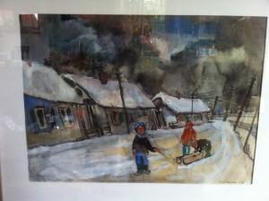 Piet Mulder: Laageinde in de sneeuw, ca. 1955