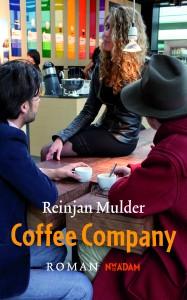 Flirtende flexwerkers in de Coffee Company, schets-ontwerp voor een omslag (foto Bert Nienhuis)