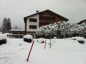 Hotel Terrassenhof in de sneeuw