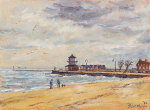 Piet Mulder, Lower Lighthouse Harwich, oil on canvas, 1983