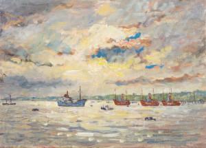 Piet Mulder: Lightships near Shotley