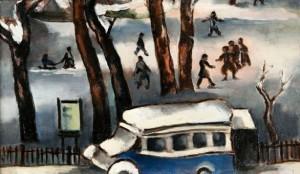 Ongezonde kunst? Else Berg, Gezicht op het Sarphati Park, 1942. Tijdens de Duitse bezetting mocht de joodse Berg niet meer exposeren. Zij stierf kort na het voltooien van dit schilderij in een concentratiekamp.