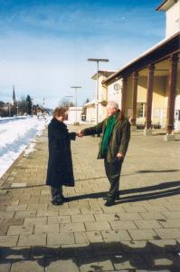 Schliersee 1999. Reinjan Mulder ontmoet Marek van der Jagt. Coll. Bijzondere Collecties