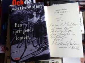 Martin Walser als jongen in de Hitler-tijd op de omslag van 'Een springende bron'