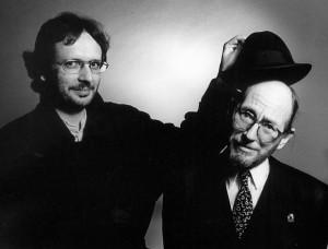 Schrijver Eriek Verpale (r.) met Luuk Gruwez