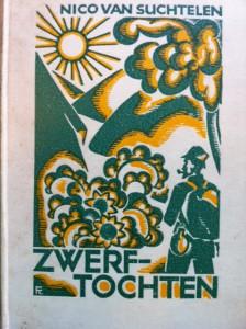 Fré Cohen: omslagontwerp voor Nico van Suchtelen's 'Zwerftochten' (Wereldbibliotheek, 1932)