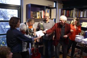 Nederland,Amsterdam, 2015 Schrijvers Oost, Meer Oost, uitgegeven door Babel & Voss, gepresenteerd in Linnaeus Boekhandel Foto: Bob Bronshoff