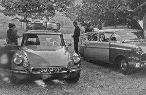 1966: aankomst van de Gymnasiasten in Haus Jungbrunnen in Bad Wiessee.